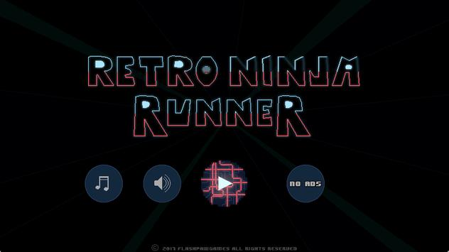 Retro Ninja Runner screenshot 1