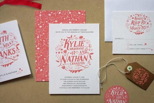 creative wedding invitation layout poster