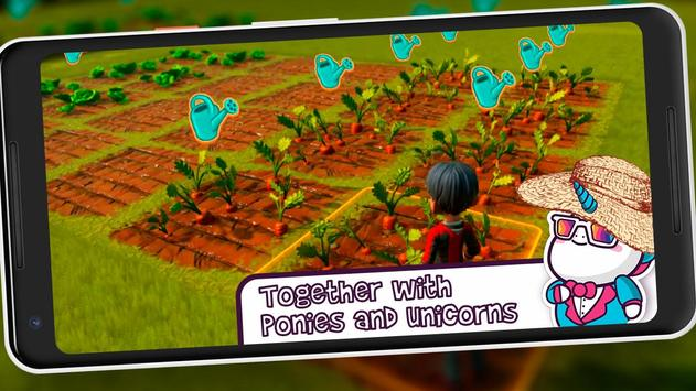 Farm Craft Together with Unicorn screenshot 2