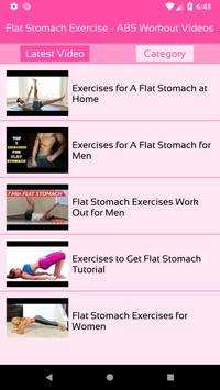 Flat Stomach Exercise - ABS Workout Videos screenshot 1
