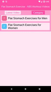 Flat Stomach Exercise - ABS Workout Videos screenshot 2