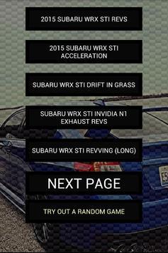 Engine sounds of 2015+ WRX STi poster