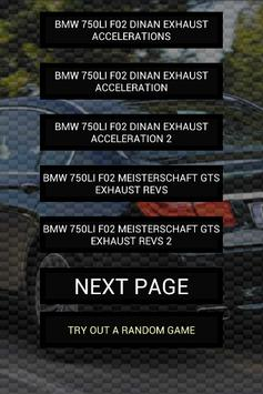 Engine sounds of 750i 750Li Xi poster