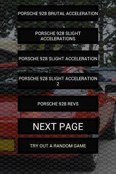 Engine sounds of 928 poster