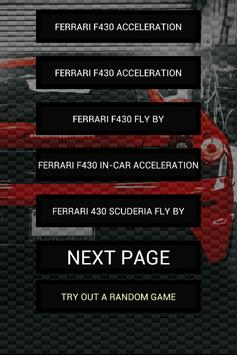 Engine sounds of F430 poster