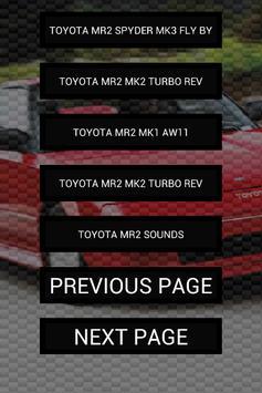 Engine sounds of MR2 screenshot 1