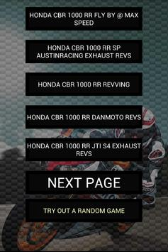 Engine sounds of CBR1000RR poster