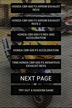 Engine sounds of CBR F3 poster