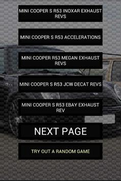 Engine sounds of Cooper R53 poster