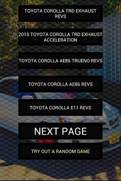 Engine sounds of Corolla poster