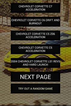 Engine sounds of Corvette poster