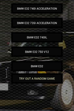 Engine sounds of E32 poster
