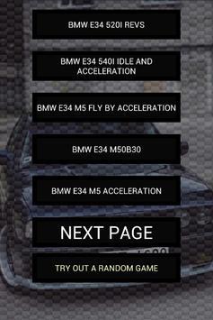 Engine sounds of E34 M5 540i poster
