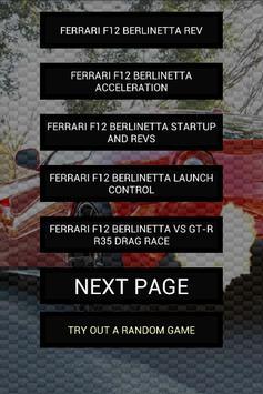 Engine sound of F12 Berlinetta poster