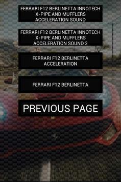 Engine sound of F12 Berlinetta apk screenshot