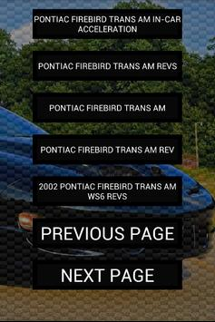 Engine sound of Firebird TA apk screenshot