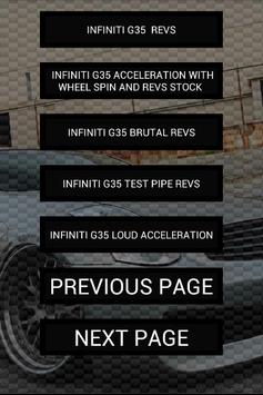 Engine sounds of G35 apk screenshot