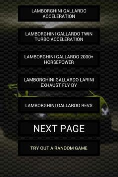 Engine sounds of Gallardo poster