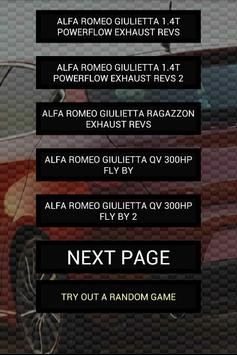 Engine sounds of Giulietta poster