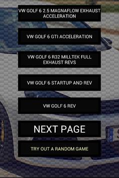 Engine sounds of Golf 6 poster