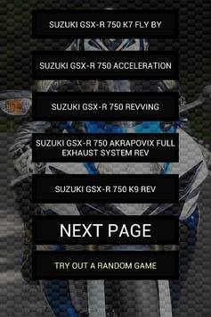 Engine sounds of GSX-R 750 poster