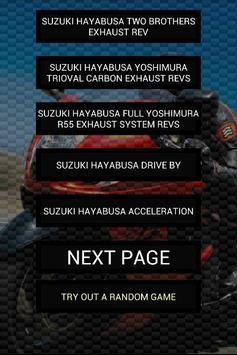 Engine sounds of Hayabusa poster