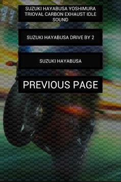 Engine sounds of Hayabusa apk screenshot