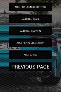 Engine sounds of RS7 apk screenshot