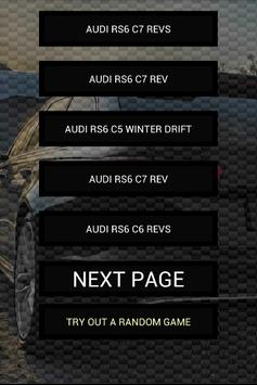 Engine sounds of RS6 poster