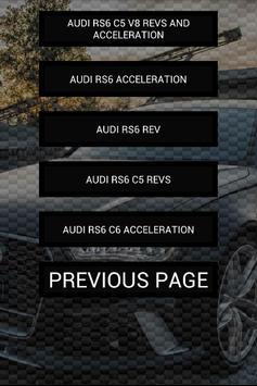 Engine sounds of RS6 apk screenshot