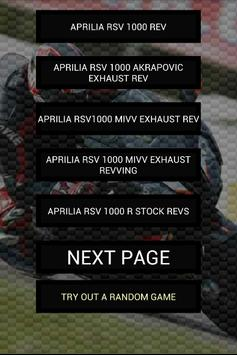 Engine sounds of RSV1000 poster