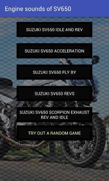 Engine sounds of SV650 apk screenshot