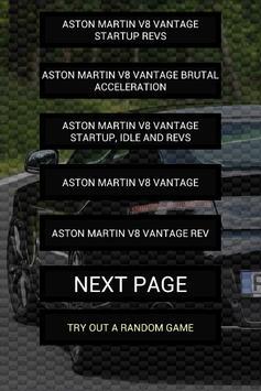 Engine sounds of V8 Vantage poster