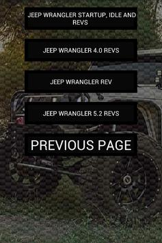Engine sounds of Wrangler poster