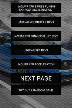 Engine sounds of XFR poster