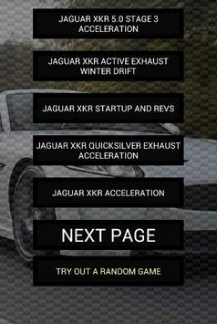 Engine sounds of XKR poster