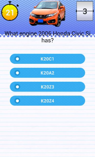 Quiz for Honda Civic Si Fans for Android - APK Download