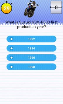 Quiz for GSX-R 600 Fans screenshot 2