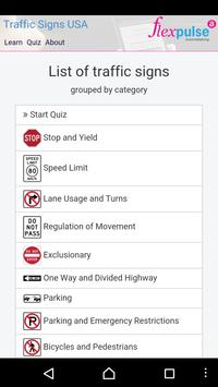 Free USA Traffic / Road Signs poster