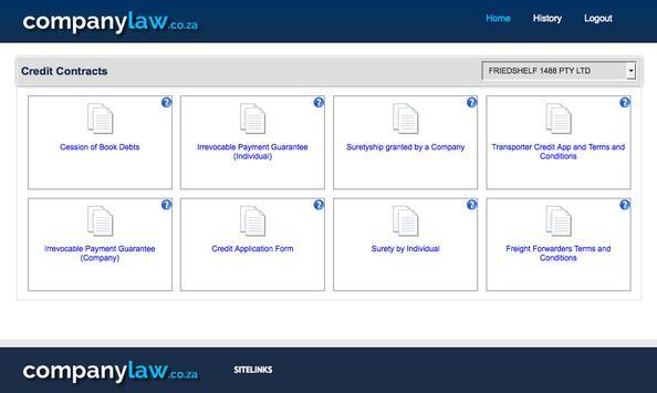 companylaw.co.za screenshot 1