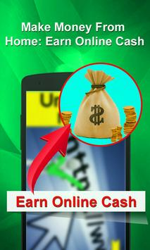 Make Money From Home: Earn Online Cash poster