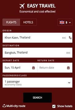 Search Flights Booking poster
