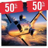 Flight Ticket Booking 50% Off Zeichen