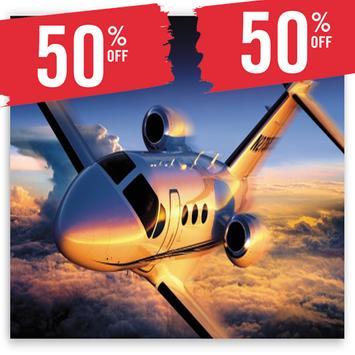 Flight Ticket Booking 50% Off poster