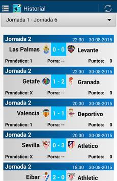 Porra Liga 2015 - 2016 apk screenshot