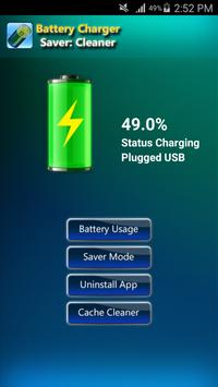 Battery Charger Saver: Cleaner poster