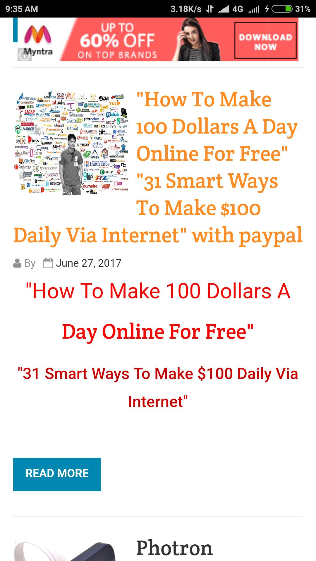 Earn Money Online from Home Without Investment for Android - APK