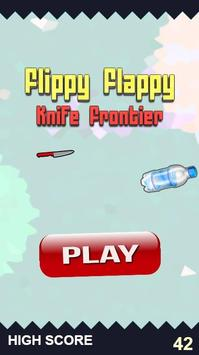 Flippy Flappy Knife Frontier Space Bottle Extreme screenshot 1