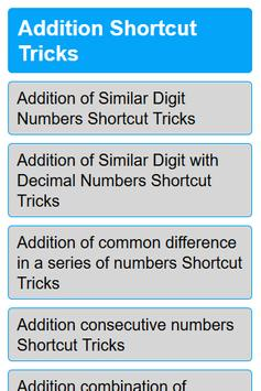 Math Shortcut Tricks Competitive Exam - 2018 screenshot 1
