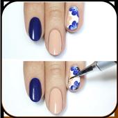 Flower manicure icon